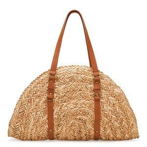 "Bay Sky Woven Straw ""Taco"" Tote Beach Bag"